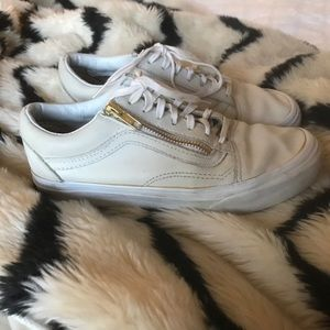 Vans old Skopje white leather zip